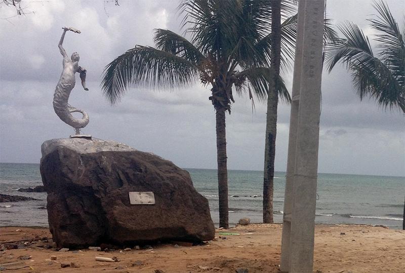 Monumento da sereia atualmente