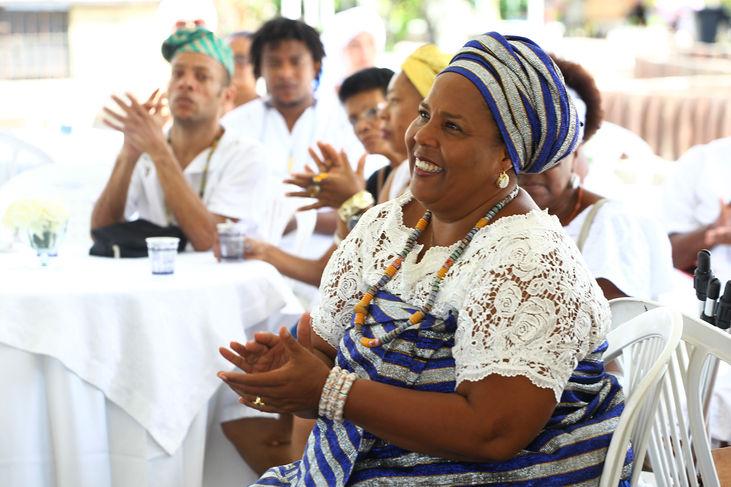 Ato Público Contra a Intolerância Religiosa Local: Praça do Abaete em Itapuã Na foto: Mãe Jaciara Foto: Elói Corrêa/GOVBA